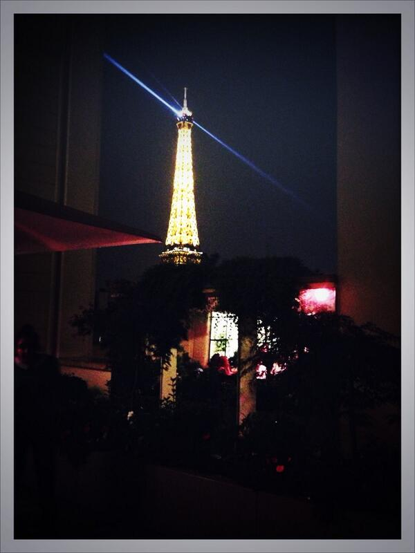 The Eiffel Tower rounds out #FashionWeek beautifully at the last party of #PFW #WJF with #SwarovskiElements http://t.co/u5lwjnVx9T