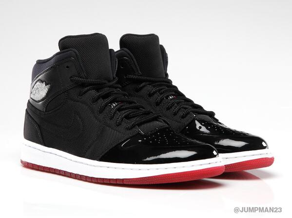 With a red outsole and a black canvas upper, our 'Black/Red' Air Jordan 1 Retro '95 hits tomorrow: http://t.co/3jeAILVoOo