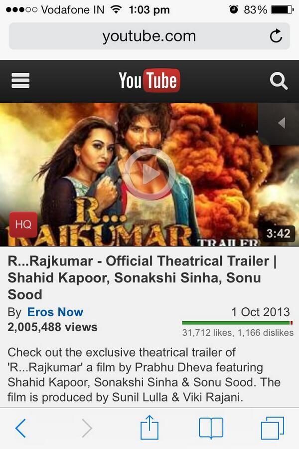 RT @Puja_rajani: 2 million views 31,712 likes @vikirajani @dhrishti_r http://t.co/xqQOaEejcV