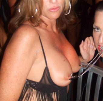 """Then The #nippleclamps came out. This gives a whole new meaning to """"she was yanking my chain"""" #fetishfriday"""