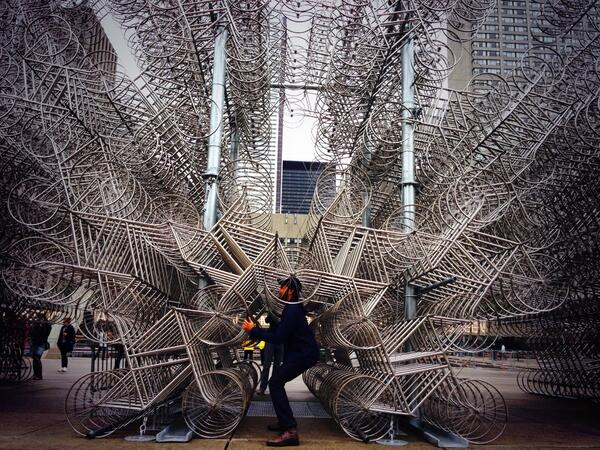 """RT @chin_up_bex: RT """"@zanehussein: Riding the imaginary 3145th bike. Thanks, @aiww and @sbnuitblancheTO  #foreverbicycles http://t.co/5ocbLa7aZs"""""""