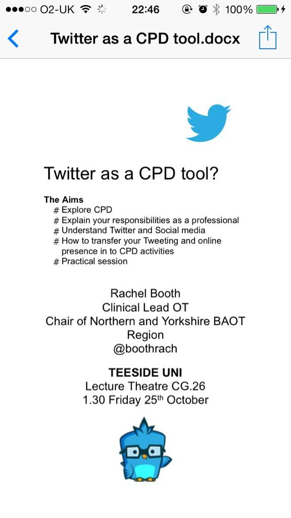 Twitter as CPD tool (with images, tweets) · GreenOaty