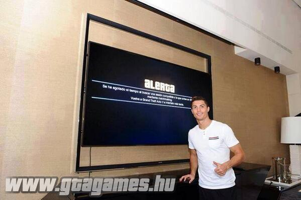 BWAbsAbCIAA7Qo3 Even Cristiano Ronaldo cant play Grand Theft Auto online, gets an error message [Picture]