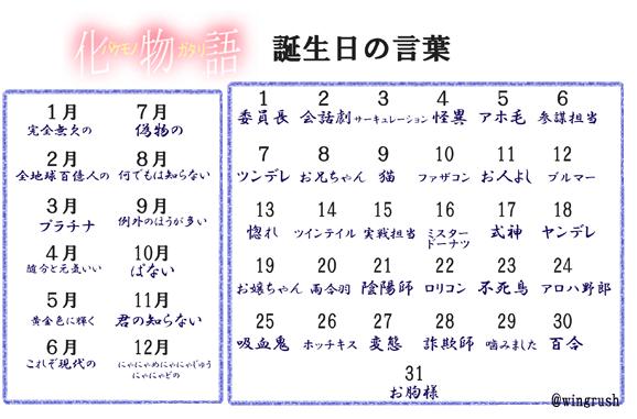 【誕生日の言葉】化物語版 #anime #化物語 #囮物語  #傾物語 #偽物語  #