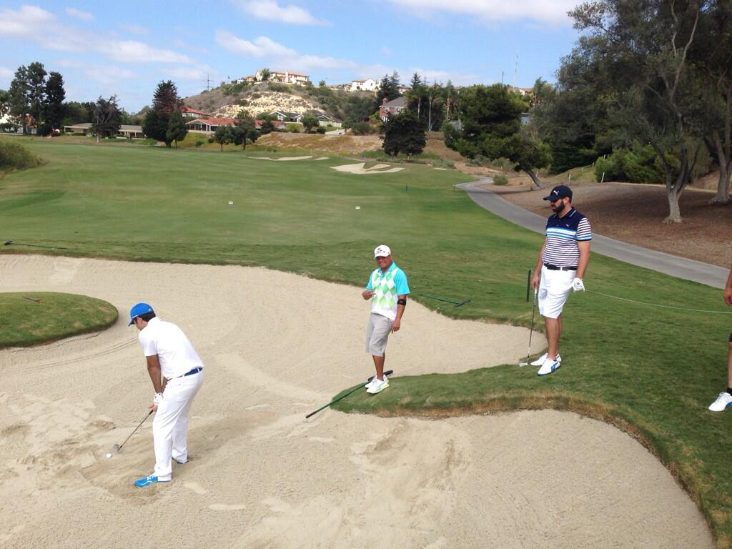 Golf Fundamentals Golfs Deadly Sins Page 15 Hotgear Bubble Magic Green Oct 8 At 915 Pm The Mygolfspy Crew And Regular Guy Getting A Bunker Lesson From Cobragolf S Littlerrat Wyfc Http Tco Ijqzwffpr7 By