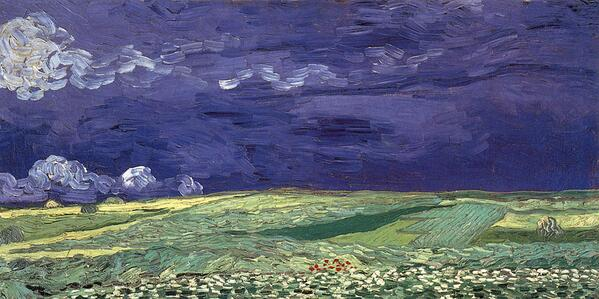 """Vincent #VANGOGH..""""Wheat Field Under Clouded Sky """"....1890 http://t.co/gnVgCk2tZa"""