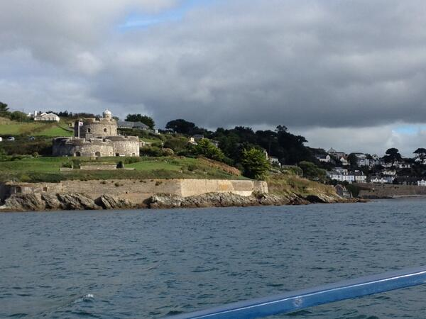 On the ferry coming in to St Mawes, blue skies n sunshine, how lucky am I?