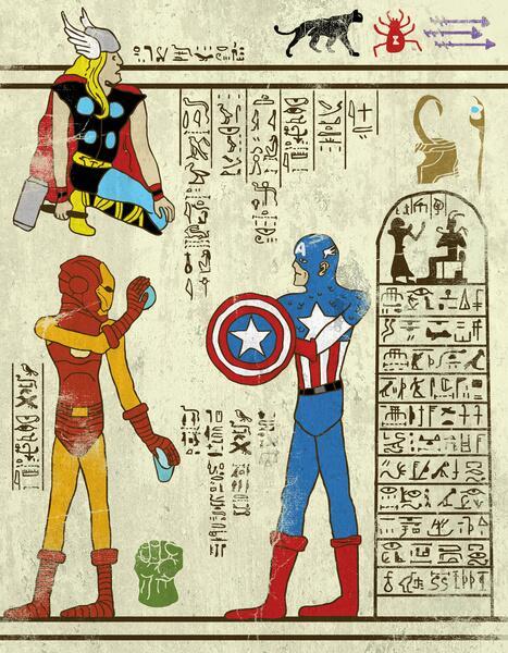 Супергерои существовали еще в Древнем Египте! Вот и доказательство ;) http://t.co/9pXITHdqCy