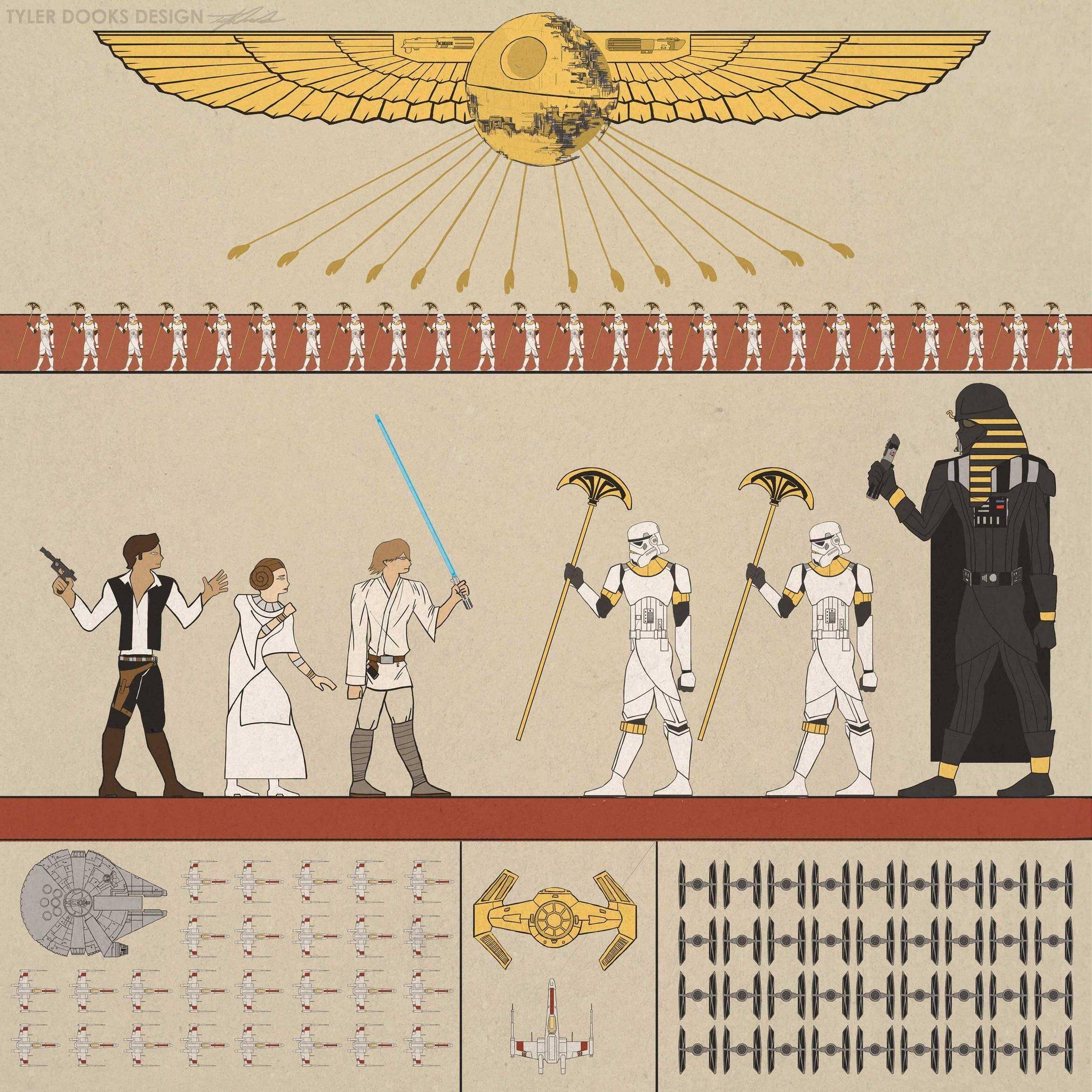 Разумеется, Дарт Вейдер тоже спокойно существовал в Египте. http://t.co/11h4xGZjru