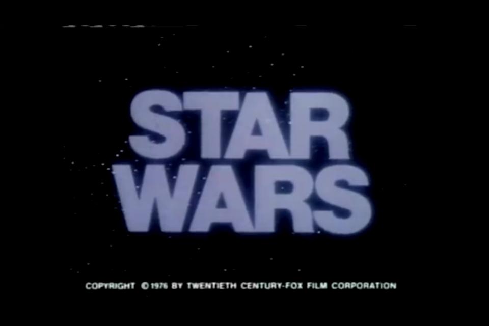 Original Star Wars Logo Star Wars Logo of The Original