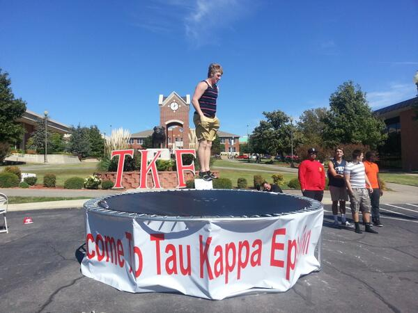 Ashley Kringen (@Ashleykringen): One fraternity in southwestern Oklahoma is turning heads on campus for a good cause. More at 6!#TKE #Weatherford http://t.co/v4w1HJjMCw