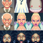 I love these so much RT @armyoftrolls: Portraits for @serafinowicz directed video. #pixelart http://t.co/jgErH1gaPE @reggiewatts @LaraStone
