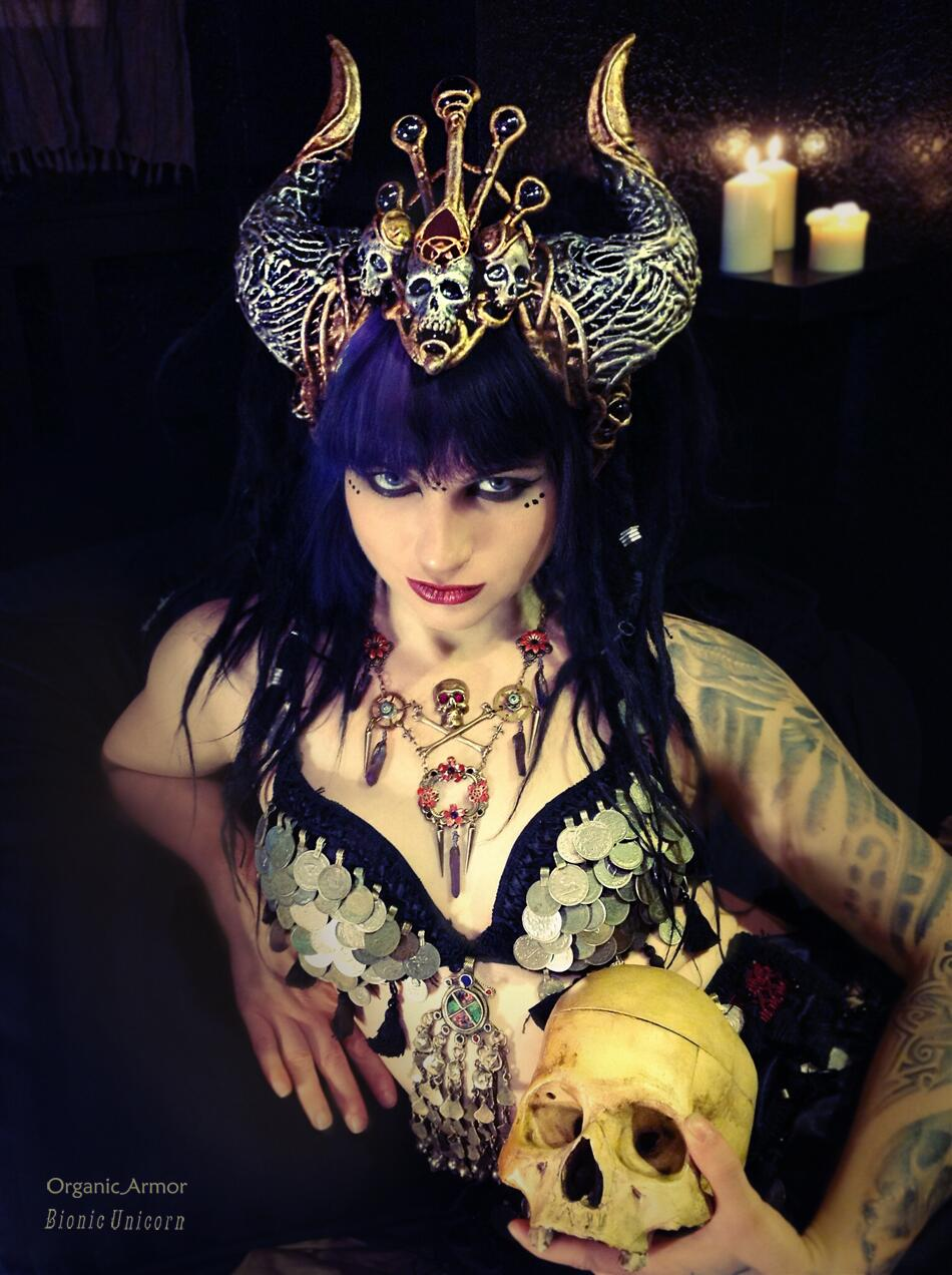 @Witch_Baby_Bat as the Clockwork Queen of Chaos, a #Tribal #Goth #Steampunk fusion of darkness, glamour, and power. http://t.co/sapJSmbpwg