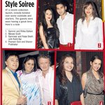 from Rohit Bal's launch party - in the midday today