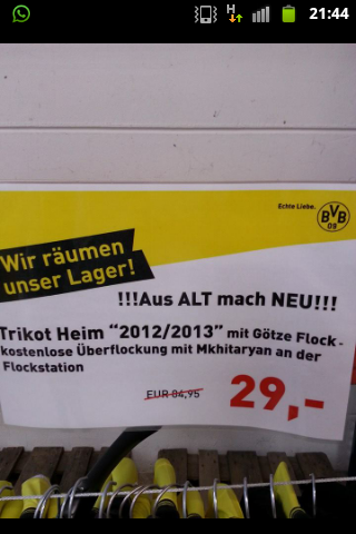 Such Hipsters! Borussia Dortmund recycle old Mario Götze shirts, overlay Mkhitaryans name & charge €29