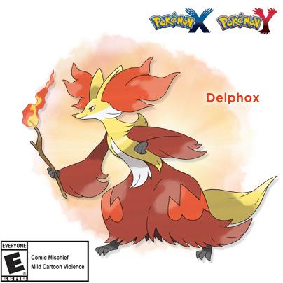 Fennekin's final evolved form has been revealed! Meet Delphox! #PokemonXY http://t.co/GFLwNdNA08