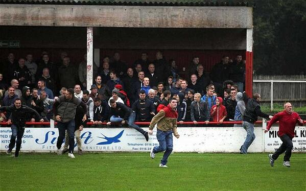 BWZaD9pCUAErtw  Atherstone v Barrow in the FA Cup held up by severe hooliganism & fan violence [Pictures]