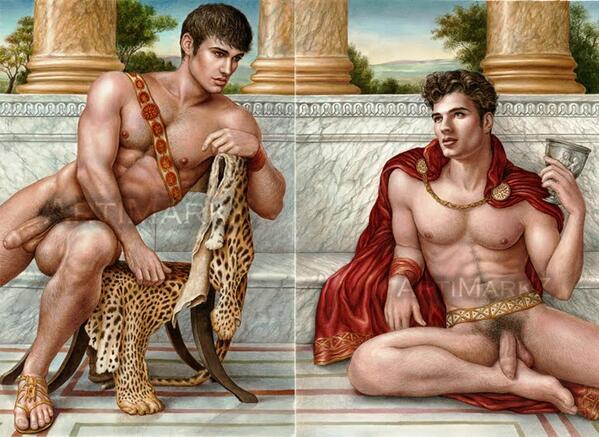 Hephaestion & Alexander. #art #ArtSunday http://t.co/zrPfAANgkc