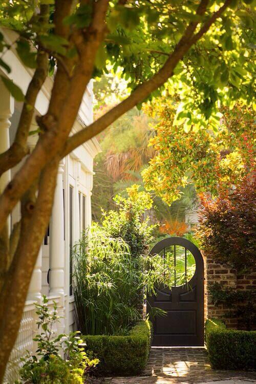 Gorgeous RT @shintextile Garden Entrance, Charleston, South Carolina photo via peg http://t.co/nXPDZSZa8l