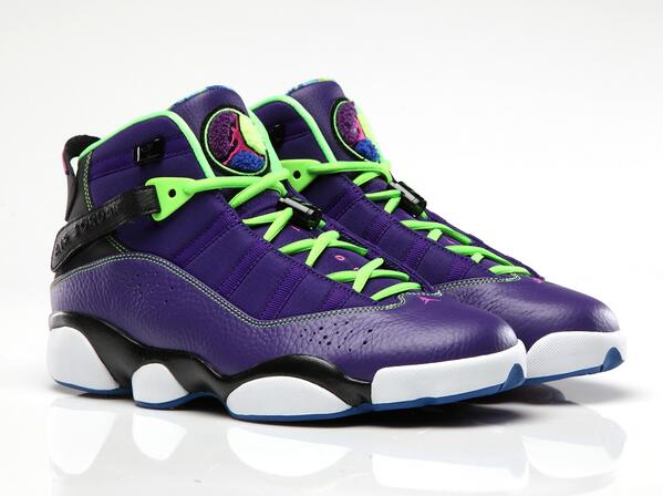 Pay tribute to the titles. Our 'Court Purple' Air Jordan 6 Rings joins our neon collection this Saturday: http://t.co/79Td2dLWou