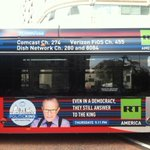 Check out the bus ads rolling around in #DC for my new @OraTV show #Politicking airing Thurs at 9&11PM on @RT_America