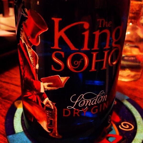 RT @DrinksEnthusist: Ooooooo my own bottle of @TheKingofSoho #new #gin http://t.co/jYvAoxLWRg