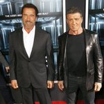 RT @iron_arnold: @EscapePlanMovie Premiere in NYC |  @Schwarzenegger and @TheSlyStallone October 15, 2013 http://t.co/XR8xT7kem4