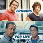"Thanks! ""@Sean_Donald: @Schwarzenegger @TheSlyStallone I love this picture! You guys are just awesome together!! http://t.co/j49gxD4lSP"""