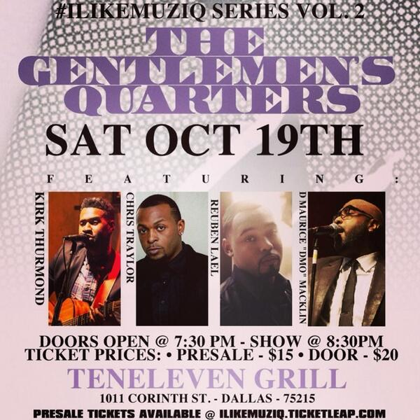 SATURDAY: LIVE performance by @RayVaughn4real at Ten Eleven Grill. Doors open at 7:30pm. Show starts at 8:30pm. #DROP http://t.co/U1yWlQH5p8