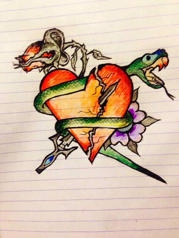 Couldn't sleep so I decided to design a tattoo http://t.co/Riy7A3fYoa