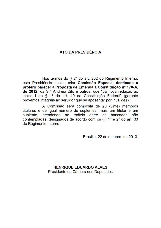 @RubensBuenoPPS Obrigado pelo seu requerimento. Criada comissão especial da #PEC 170/12, servidores inválidos. http://t.co/DTn20Vg4pt