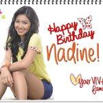 """@Viva_Ent: Happy birthday, Nadine! :) Love, your VIVA family @hellobangsie http://t.co/vXTr4dWxZ2"""
