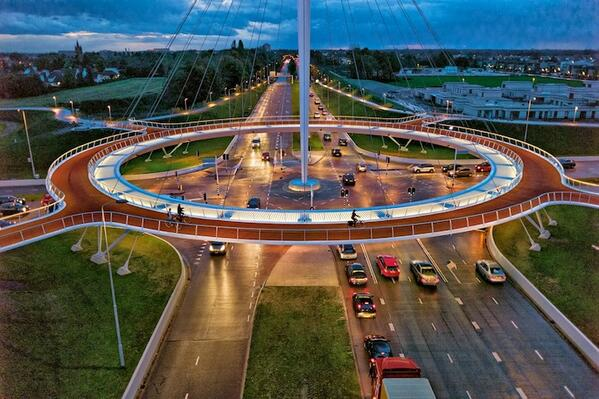 Giant Hovering Roundabout for Cyclists located in the Dutch city of Eindhoven, Netherlands http://t.co/r4cwlnJAZ6