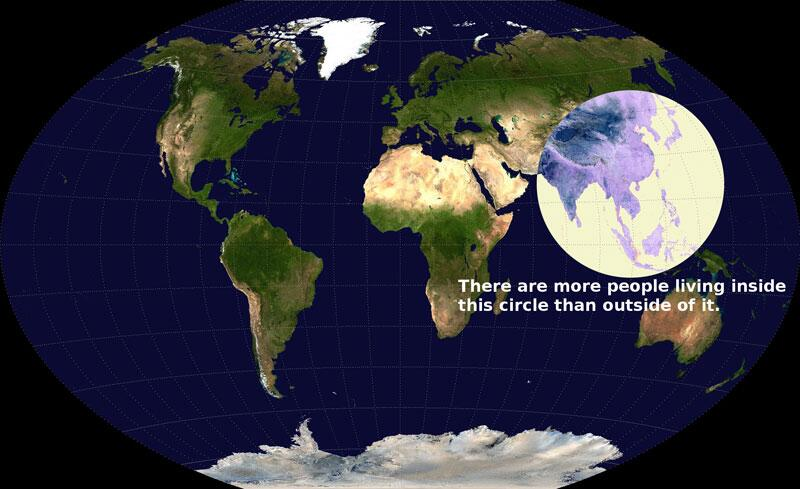 More humans live inside this circle than outside ... #GoFigure! http://t.co/n22StXkxcz