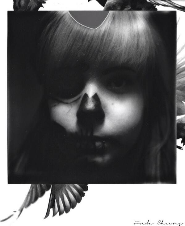 MT@instantmoments: Halloween - Skeleton Makeup Vol.6 on IMpossible PX 600 Freedom Edition with my #polaroid SLR690. http://t.co/B2OsXVDYso