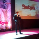 """@RGVzoomin: Sarkar at the Satya 2 party http://t.co/Nq00hXBPEf""   Look at the way he stands!!!  Authority personified…!!  #ADMIRATION"