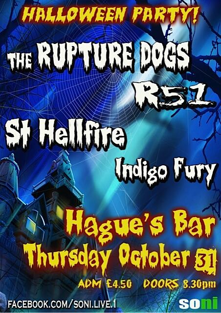 A classic Halloween Night show in Lisburn....mighty line-up, including @TheRuptureDogs #sonilive http://t.co/OPLd7HPyjj