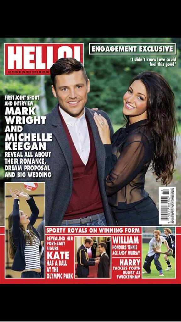 RT @michkeegan: Ahh just seen @hellomag I love it! thankyou so much to everyone involved, @markwright_ and I really enjoyed the day! http://t.co/afaTKRVV87