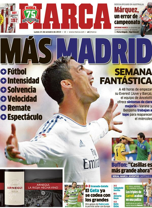Marca's cover: Another Madrid http://t.co/Tsbtz51x6z