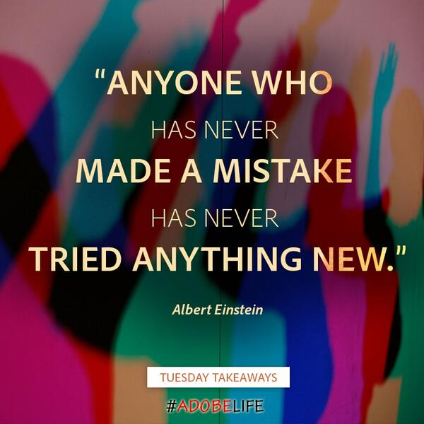 Try something #new! You never know what you might learn #TuesdayTakeaways #AdobeLife http://t.co/o0PV5zhmKi