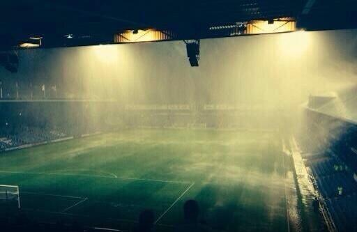 BXNQIaJIUAAzOAB Portsmouth v Wycombe called off due to torrential rain & lightning storm [Crazy video & pictures]