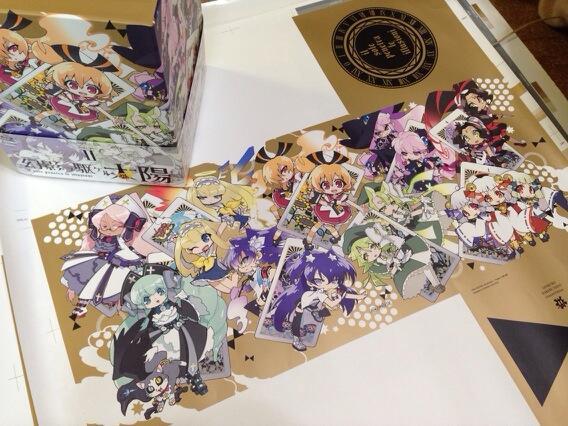 DVD、BD全巻収納ケースの色校正をパシャリ! #geneitaiyo