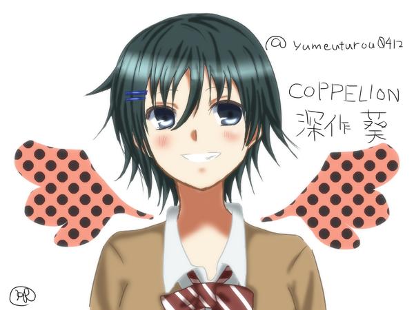 アニメのCOPPELION見てたら深作葵ちゃんが可愛すぎたんで描いてみた。私の絵では伝わらないくらい可愛いw