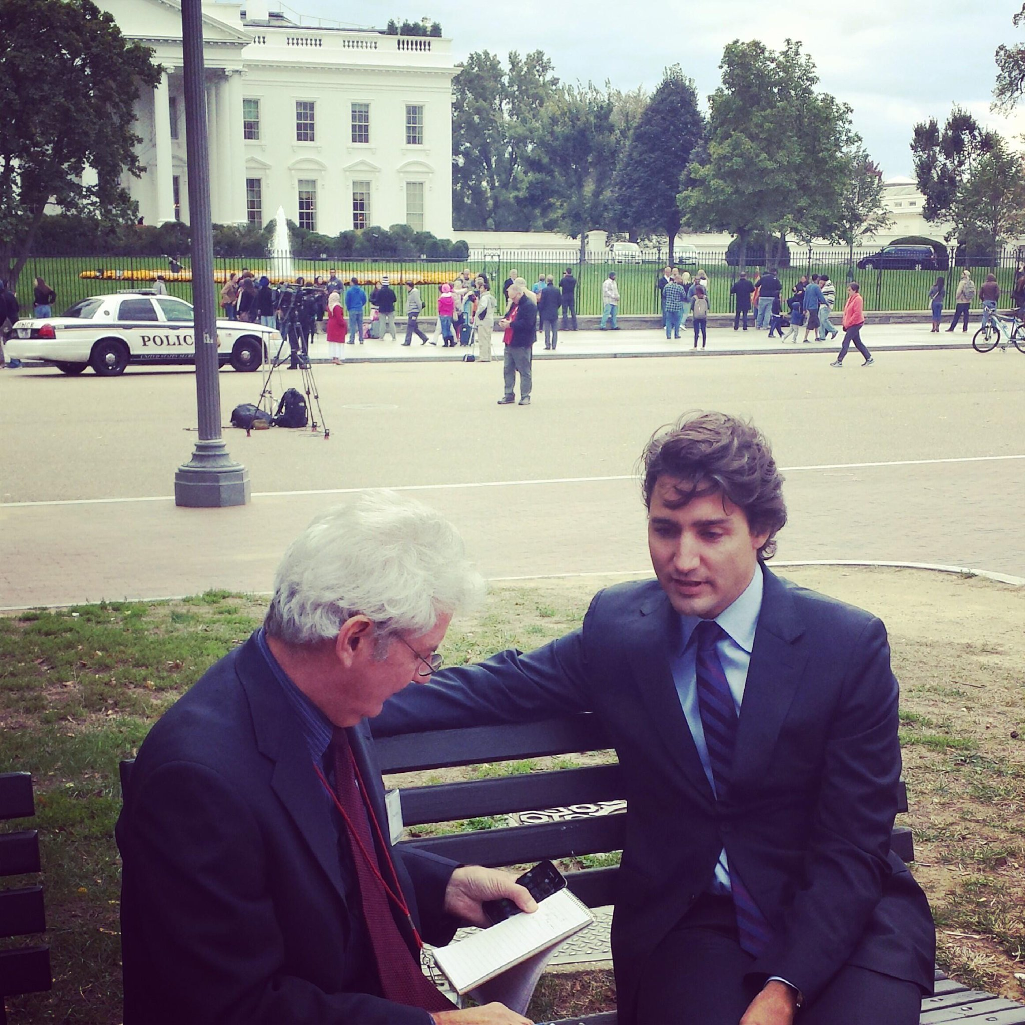 RT @gmbutts: Here's .@JustinTrudeau doing an iview with @globeandmail before we mtg w President Obama's economic team #cdnpoli http://t.co/2lLRSBOQ1r