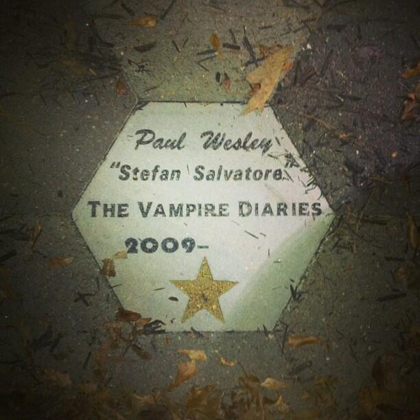Atlanta version of Hollywood blvd - Paul Wesley. http://t.co/Y1OwKnlPJe