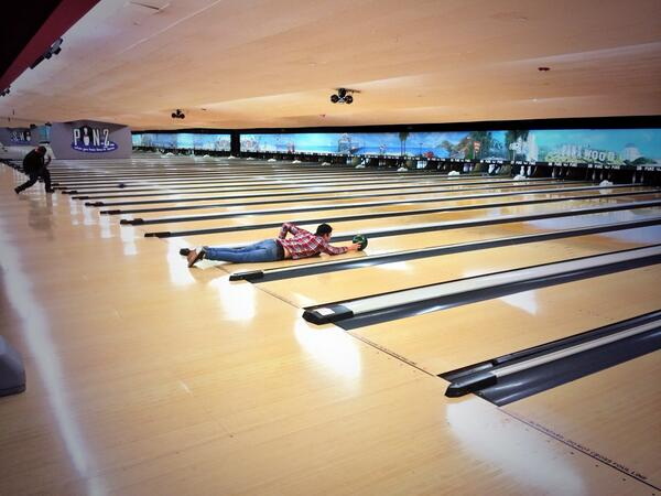 This is my method of getting as close to the pins as possible when bowling without stepping over the line. http://t.co/w048fN3S89