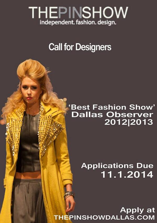 the pin show call for designers