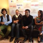 blurry cool;) RT rahmanishq: That's @ShwetaPandit7 @arrahman @RanjitBarot at the #Rahmanishq press conference !! http://t.co/kD1rLXxexs