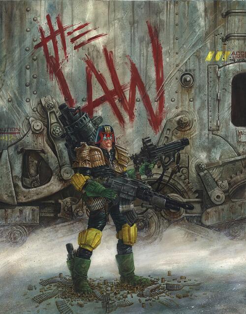 My version of Judge Dredd. I'm still pretty happy with it. http://t.co/QxoLWtR99q