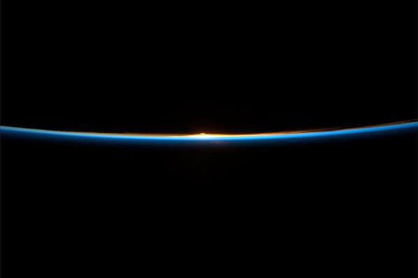 The Earth smiles broadly as the Sun rises. http://t.co/MBmOlDSkPC